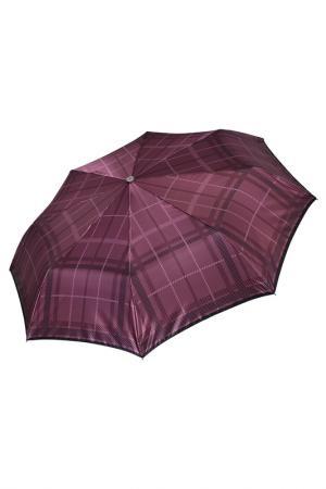 Складной зонт автомат с принтом Клетка Fabretti. Цвет: радужный