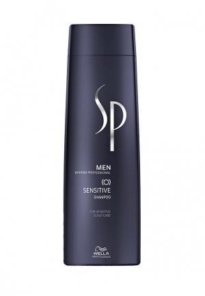 Шампунь для чувствительной кожи головы Wella SP. Цвет: синий
