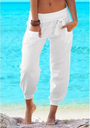Пляжные брюки Buffalo London. Цвет: белый, серо-коричневый, черный