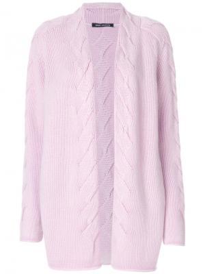 Удлиненный кардиган Iris Von Arnim. Цвет: розовый и фиолетовый