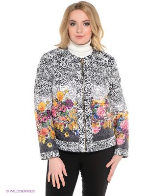 Куртка Sinta Via. Цвет: белый, черный, розовый, желтый