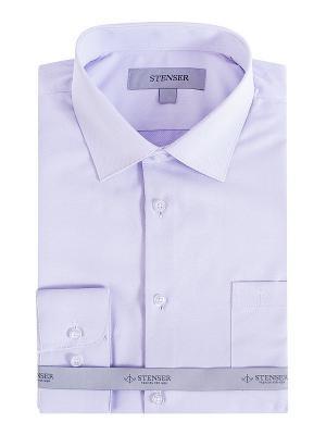 Сорочка STENSER. Цвет: фиолетовый