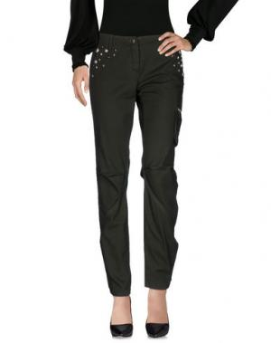 Повседневные брюки JO NO FUI. Цвет: зеленый-милитари