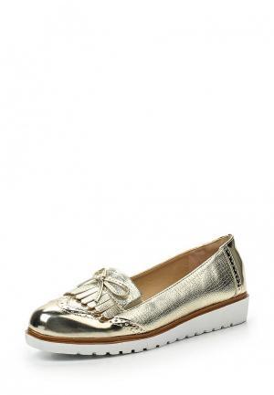 Лоферы WS Shoes. Цвет: золотой