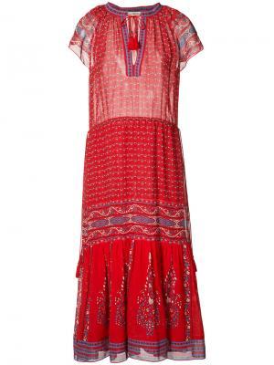 Платье-миди с кисточками Ulla Johnson. Цвет: красный