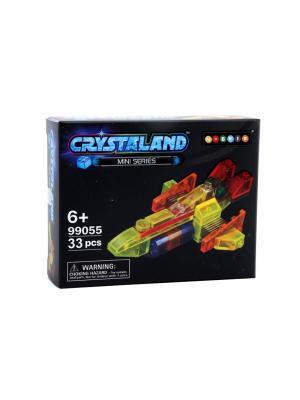 Светящийся конструктор Crystaland Грузовой Корабль 34 детали Neocube. Цвет: фиолетовый