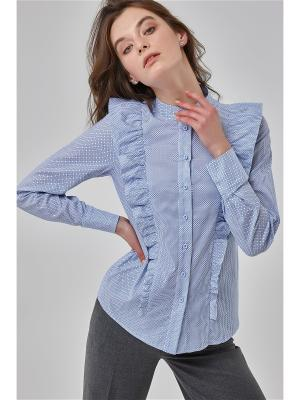 Блузка Chaga Dots Katya Erokhina. Цвет: голубой, белый