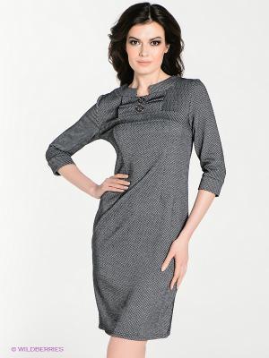 Платье Dea Fiori. Цвет: черный, серый