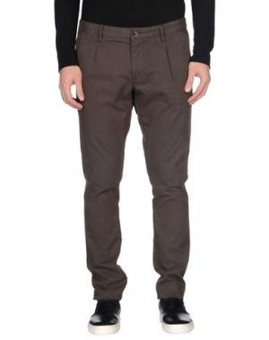 Повседневные брюки COCHRANE. Цвет: темно-коричневый