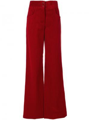 Расклешенные брюки с высокой талией Etro. Цвет: красный