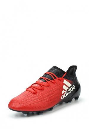 Бутсы adidas Performance. Цвет: красный