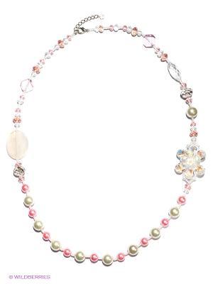 Колье Infiniti. Цвет: розовый, белый, прозрачный