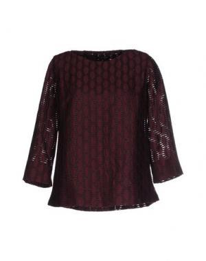 Блузка WALTER VOULAZ. Цвет: баклажанный