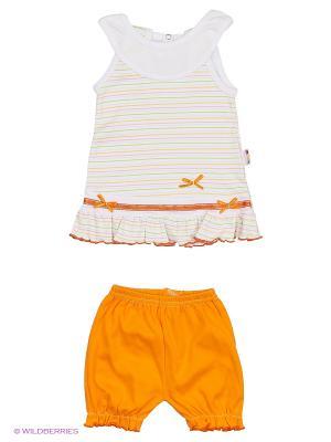 Комплект одежды Babycollection. Цвет: белый, оранжевый