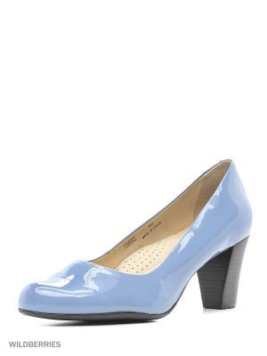 Туфли INDIANA. Цвет: голубой