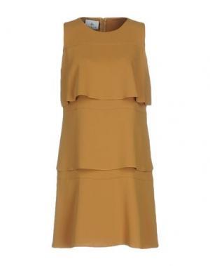 Короткое платье PIU' &. Цвет: охра