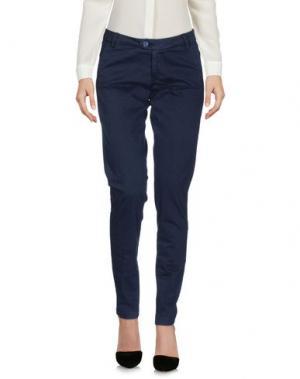 Повседневные брюки BONHEUR. Цвет: темно-синий