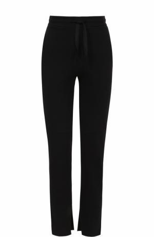 Укороченные брюки прямого кроя с разрезами Iro. Цвет: черный