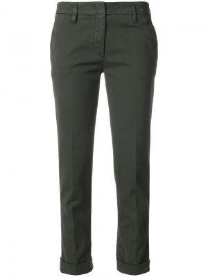 Строгие укороченные брюки Aspesi. Цвет: зелёный