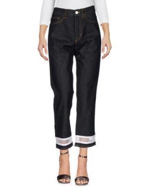 Джинсовые брюки VIRGINIA BIZZI. Цвет: черный