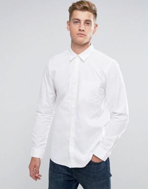 Jack Wills Белая рубашка классического кроя. Цвет: белый