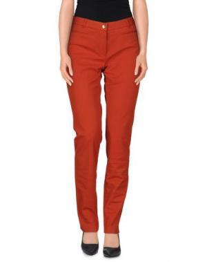 Повседневные брюки PAMELA HENSON. Цвет: ржаво-коричневый