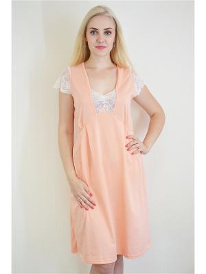 Ночная сорочка Miata. Цвет: персиковый