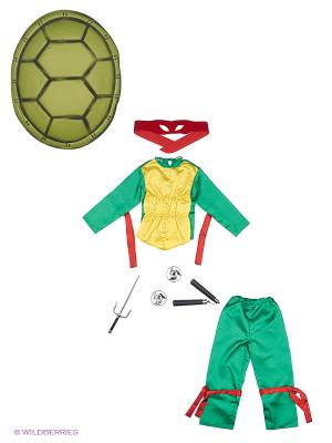 Карнавальный костюм ЧЕРЕПАШКА НИНДЗЯ Батик. Цвет: зеленый