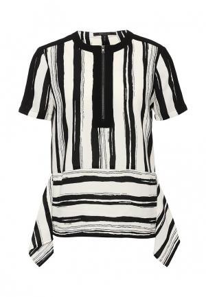 Блуза BCBGMAXAZRIA. Цвет: черно-белый