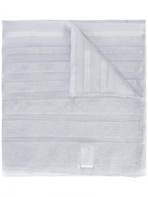 Шарф с металлизированными полосами Fabiana Filippi. Цвет: серый