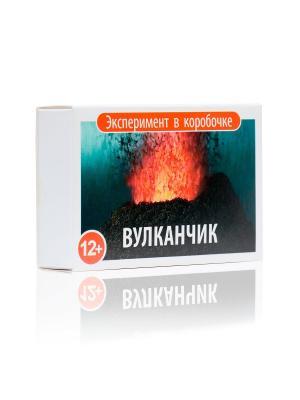 Извержение вулкана. Научный эксперимент в коробочке для детей Простая наука. Цвет: красный, белый