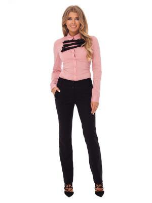 Блузка Gloss. Цвет: розовый, черный