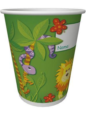 Посуда из бумаги, Стаканы бумажные для хол/гор. напитков, 200 мл, Джунгли, 10шт DUNI. Цвет: зеленый, красный, желтый