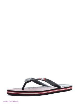 Шлепанцы DC Shoes. Цвет: красный