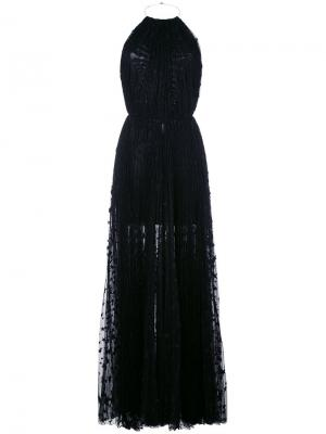 Длинное платье с вырезом-халтер Maria Lucia Hohan. Цвет: чёрный
