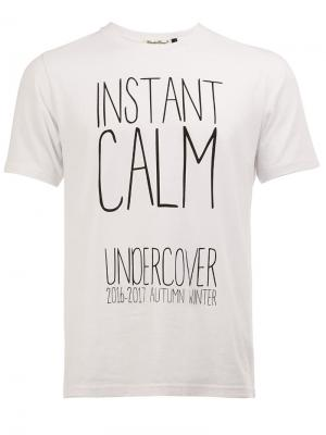 Футболка instant calm Undercover. Цвет: белый