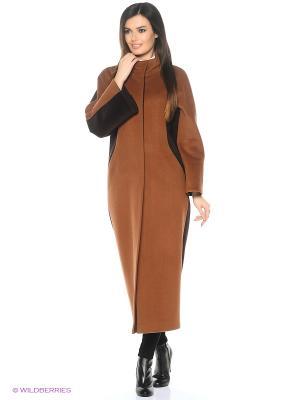 Пальто Azell'Ricca. Цвет: коричневый, рыжий