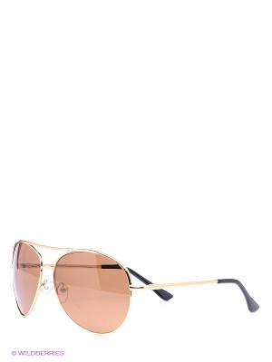 Солнцезащитные очки Vittorio Richi. Цвет: светло-коричневый, золотистый
