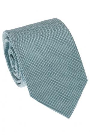Фактурный бирюзовый галстук Gucci. Цвет: бирюзовый