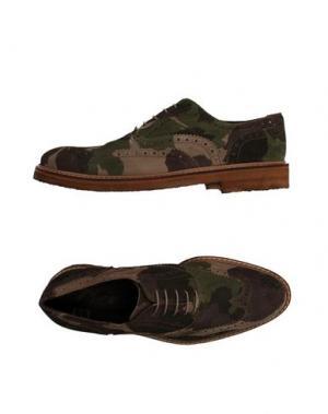 Обувь на шнурках GOLD BROTHERS. Цвет: зеленый-милитари
