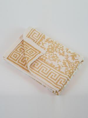 Полотенце махровое La Pastel. Цвет: белый, желтый