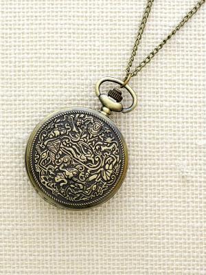 Кулон-часы Античность Mitya Veselkov. Цвет: бронзовый