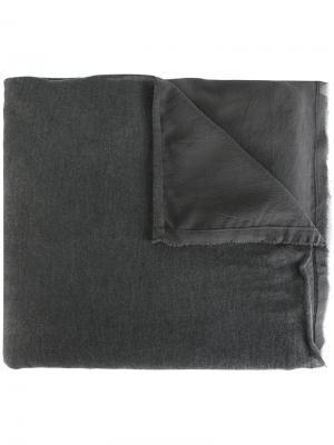 Многослойный платок с бахромой по краям Kristensen Du Nord. Цвет: серый