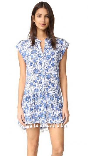 Мини-платье Heni Poupette St Barth. Цвет: голубой маковый