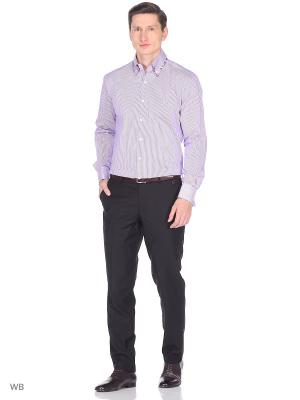 Рубашка мужская манжет под запонки WHITE CUFF. Цвет: сиреневый