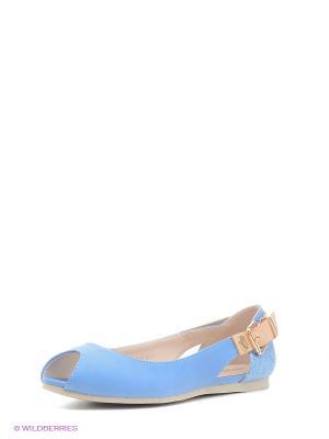 Балетки INARIO. Цвет: голубой