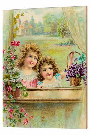 Картина За окном Glambers. Цвет: мультицвет