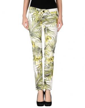 Повседневные брюки DIVINA. Цвет: кислотно-зеленый