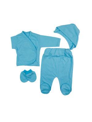 Комплек для новорожденных My School. Цвет: голубой