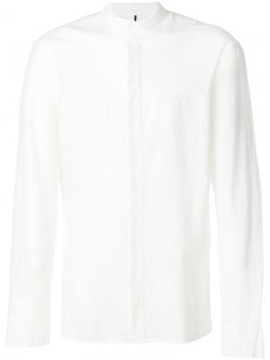 Рубашка с панельным дизайном Masnada. Цвет: белый
